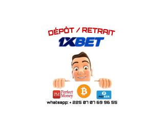 Depot et retraits 1xbet, perfect money bitcoin, payeer