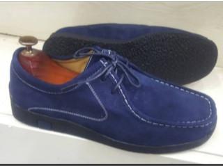 Chaussure wallabees en daim