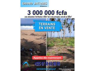 Opportunité terrain en bordure de mer à GRAND JACQUES