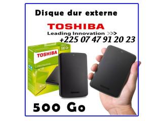 DISQUE EXTERNE IMPORTE DE FRANCE TOSHIBA 500GO