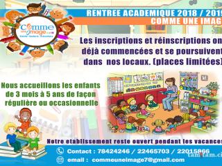 Rentrée académique 2018 / 2019 COMME UNE IMAGE