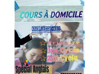 COURS A DOMICILE ET FORMATION D'ANGLAIS