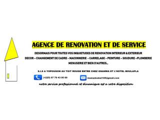 ### AGENCE DE RENOVATION ET SERVICE ###