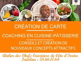 Formation cuisine, pâtisserie et restaurant.