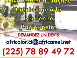 AFRICOLOR (Agence spécialisée de peinture bâtiment et décoration intérieure).