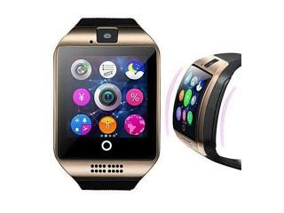 Montre Connectée Q18 - Carte Sim - Bluetooth -NFC- Compatible Android - IOS - Dore/Gris