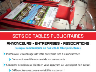 Sets de table publicitaires