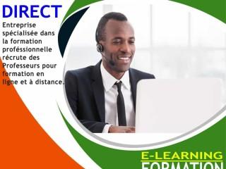 EMPLOI-DIRECT : RECRUTEMENT DE PROFESSEURS POUR FORMATION A DISTANCE
