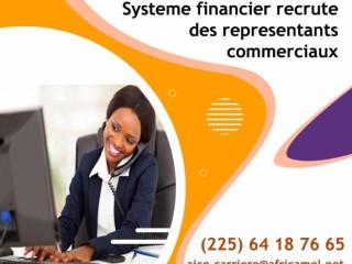 EMPLOI DIRECT : SYSTÈME FINANCIER RECRUTE DES REPRÉSENTATIONS COMMERCIALES