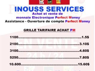 ACHAT ET VENTE DE PERFECT MONEY