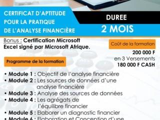 CERTIFICAT D'APTITUDE AU METIER D'ANALYSTE FINANCIER (AF)